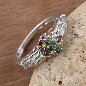 Jewelry - Forte Dauphin Apatite, Multi Gemstone Silver Ring